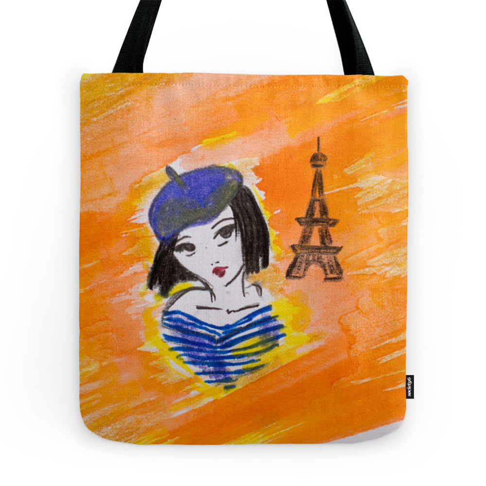 French Girl Tote Purse by angieluciaart (TBG7234712) photo