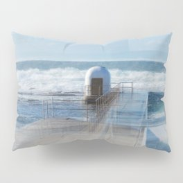 Merewether pool pumphouse, from memory Pillow Sham