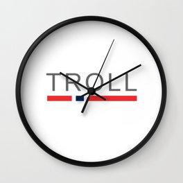 Troll Norway Wall Clock