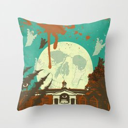 SPOOKY HOUSE Throw Pillow