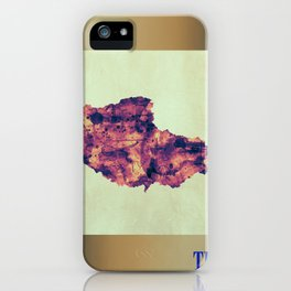 Tibet Map with Flag iPhone Case