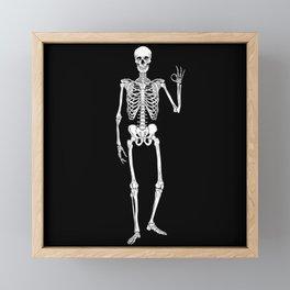 I am Okay - Skeleton Framed Mini Art Print