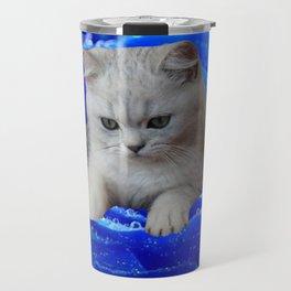 Cat and Rose Travel Mug