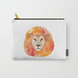 Watercolor Lion Carry-All Pouch