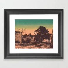 Overlook Sunset Framed Art Print