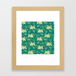 KINGFISHERS PARTY Framed Art Print