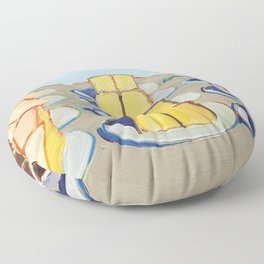 Classical Masterpiece Cake Rows, 1920 Floor Pillow