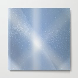 Blue Sky Snow Background Metal Print