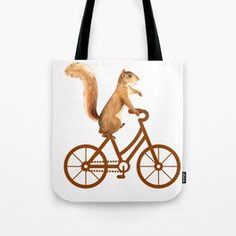 Squirrel With Bicycle Tote Bag