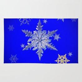 """MORE SNOW"" BLUE WINTER ART DESIGN Rug"
