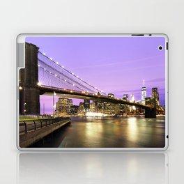 Brooklyn Bridge at night. New York Laptop & iPad Skin