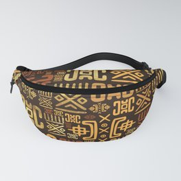 Ethnic African Pattern- browns and golds #8 Fanny Pack