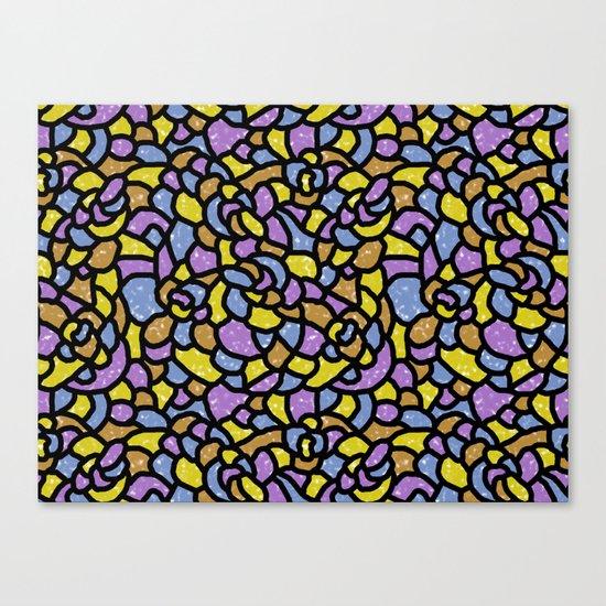 Mosaic Tiles Random Shaped Canvas Print