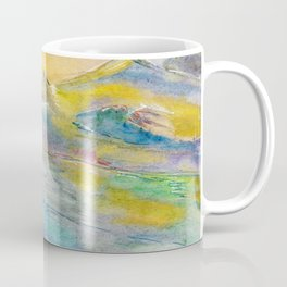 Sunset in the mountains. Watercolor painting Coffee Mug
