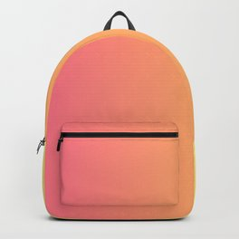 Peach And Yellow Gradient Design Pattern Backpack