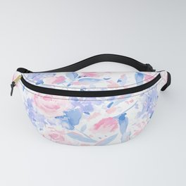 Scattered Lovers Blue on White Fanny Pack