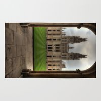 college Area & Throw Rugs featuring Christ Church College, Oxford by Best Light Images