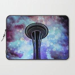 Space Needle - Seattle Stars Clouds Fog Laptop Sleeve