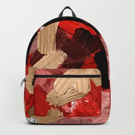 27   | Abstract Expressionism| 210210| Digital Abstract Art Textured Oil Painting Backpack
