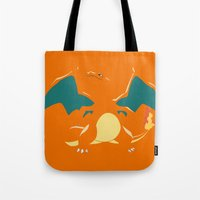 charizard Tote Bags featuring Charizard by SEANLAR94