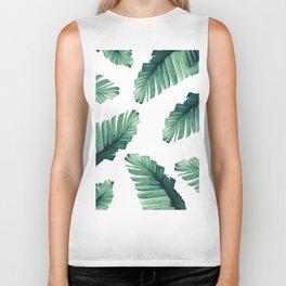 Tropical Banana Leaves Dream #5 #foliage #decor #art #society6 Biker Tank