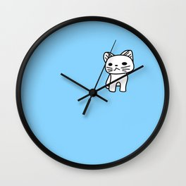 Snow in Blue Wall Clock
