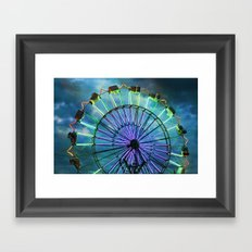 Skydiver at night Framed Art Print