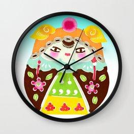 Nesting Egg Woman Wall Clock