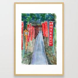 Shinto shrine entrance Framed Art Print