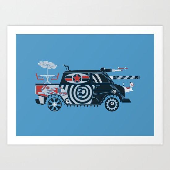 Vantastic Tank Girl Art Print