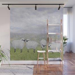 sheep and chicory Wall Mural