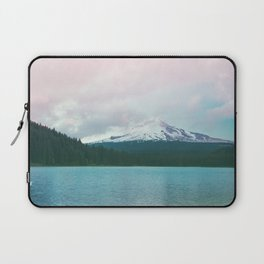 Mountain Lake - Nature Photography - Turquoise Teal Pink Laptop Sleeve