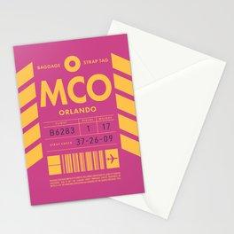 Luggage Tag D - MCO Orlando USA Stationery Cards
