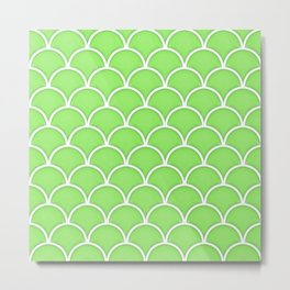 Green Flash large scallop pattern Metal Print
