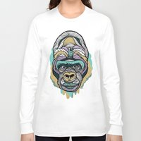 gorilla Long Sleeve T-shirts featuring Gorilla by casiegraphics