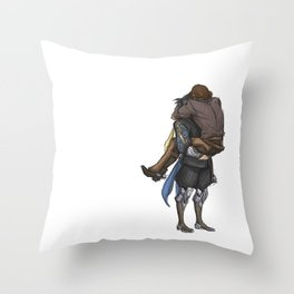 Smol & Strong Throw Pillow