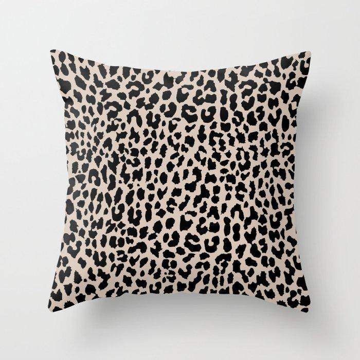 Tan Leopard Deko-Kissen