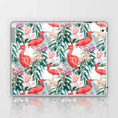 Exotic pink bird in the tropical jungle Laptop & iPad Skin
