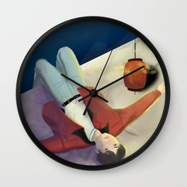 JAPANESE ANIME BOY - OCEAN WAV3S Wall Clock