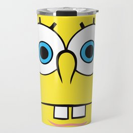 Spongebob Surprised Face Travel Mug