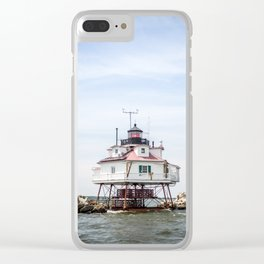 Thomas Point Light House Clear iPhone Case