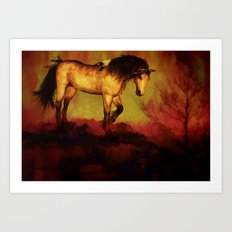 HORSE - Choctaw ridge Art Print