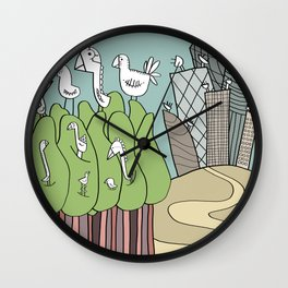 Birds and Antennas Wall Clock
