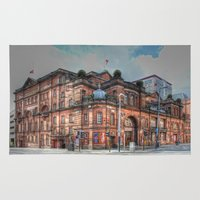 theatre Area & Throw Rugs featuring Kings Theatre Glasgow  by Valerie Paterson