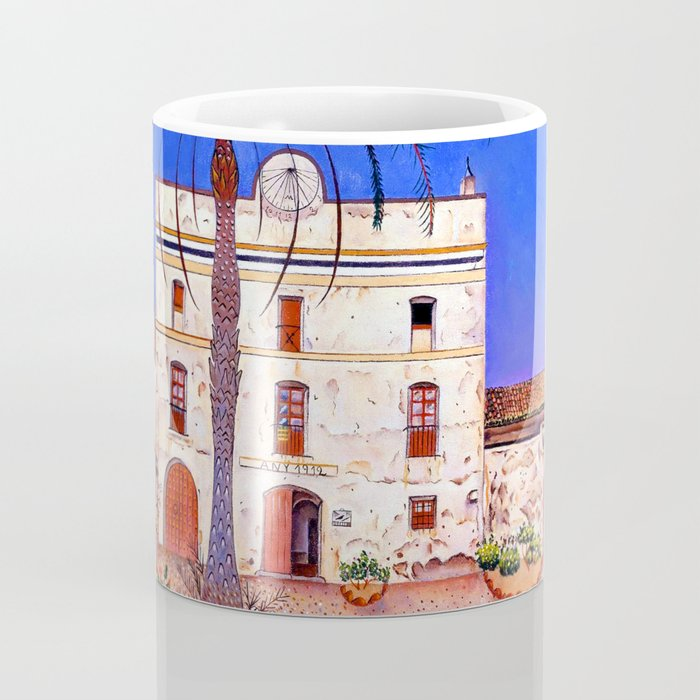 Joan Miro House with Palm Tree Coffee Mug