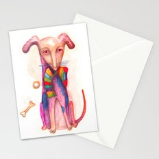 pet dog with precious toys Stationery Cards