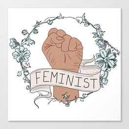 Feminist Fist Canvas Print