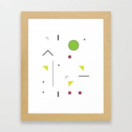 Geometric Storm: Take 7 Framed Art Print