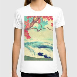 Waking to the Wild and Beautiful Ocean of Dhin T-shirt