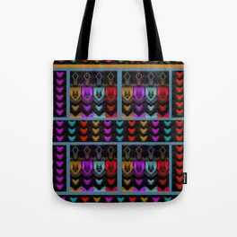 HEARTS and HANDS, flipped photo art Tote Bag